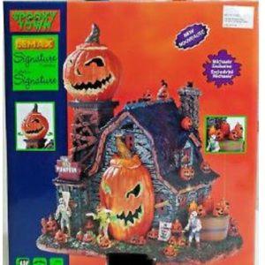 Lemax Spooky Town Mad Pumpkin Patch Halloween